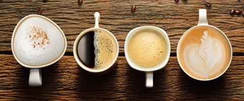 © amenic181 / fotolia - Variety of cups of coffee and coffee beans ...